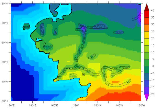 Terre du Milieu : températures moyennes annuelles