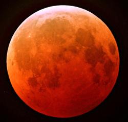 Éclipse de lune de décembre 2010. Crédits : John Vermette/Wikimedia Commons.