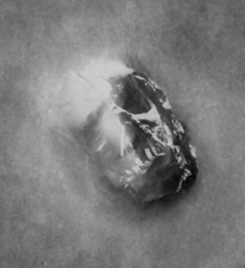 Face de Mars en forme de Dark Vador
