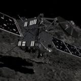 Vue d'artiste de Rosetta se posant sur la comète