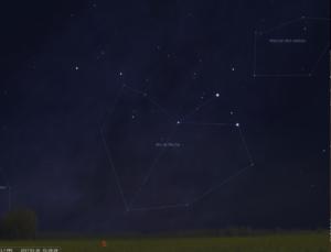 La zone de la constellation du Grand Chien selon l'astronomie chinoise
